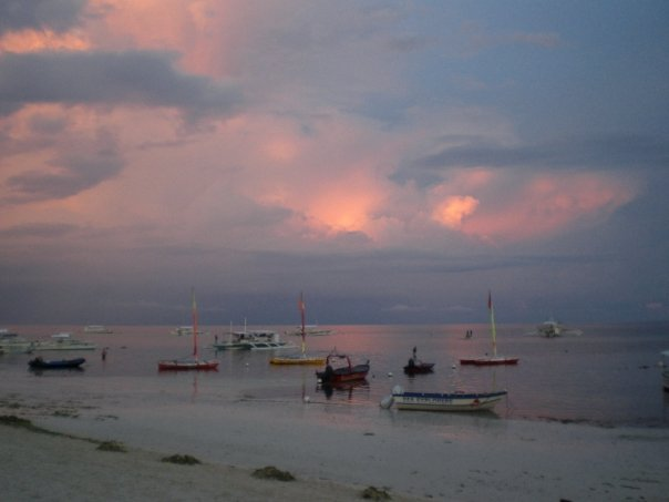 Beach sunset on Bohol