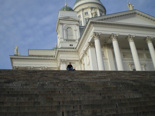Helsinki, cathedral steps