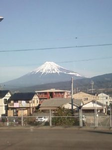 View of Fuji from the train