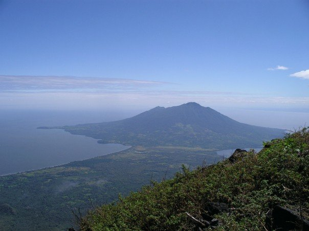 View of Volcan Maderas from Volcan Concepcion, Ometepe island