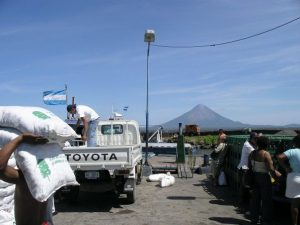 Waiting for the boat to Ometepe