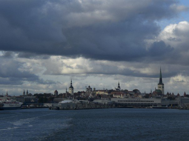 View of Tallinn from the ferry