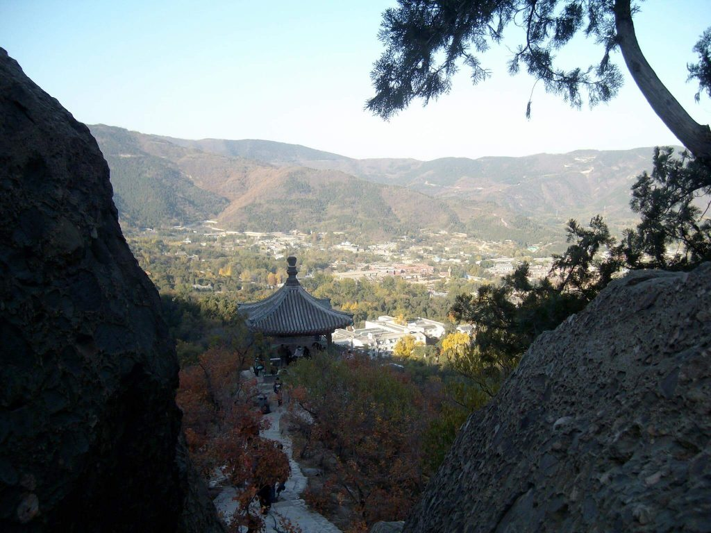 Pagoda in Beijing's Fragrant Hills park (Xiangshan)
