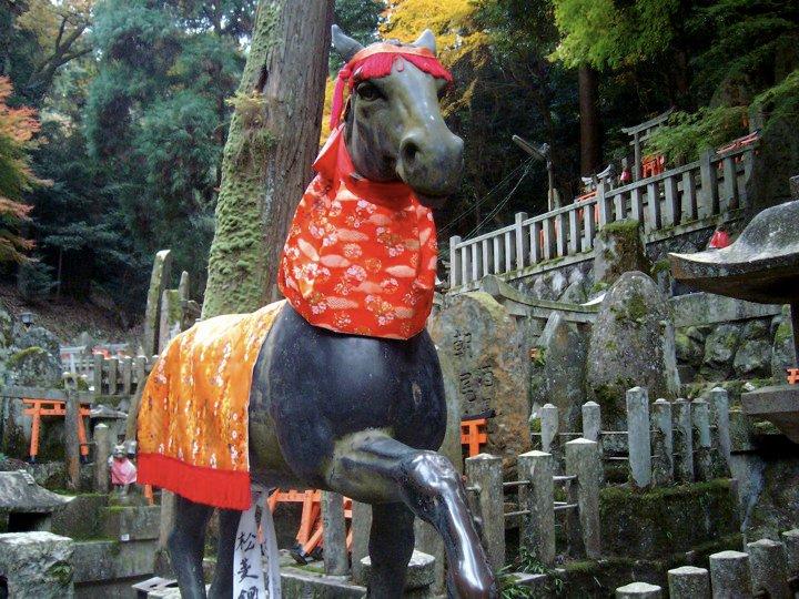 Horse statue at Fushimi Inari