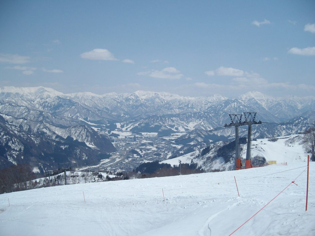 The view of Yuzawa from Gala Yuzawa ski resort