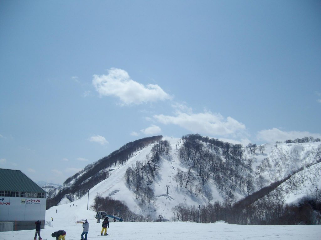 The top of Gala Yuzawa ski resort