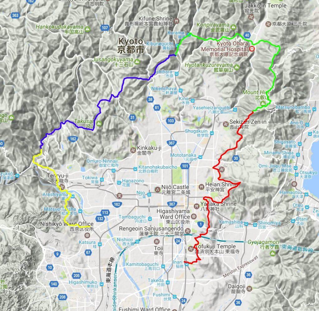 Isshu Trail map