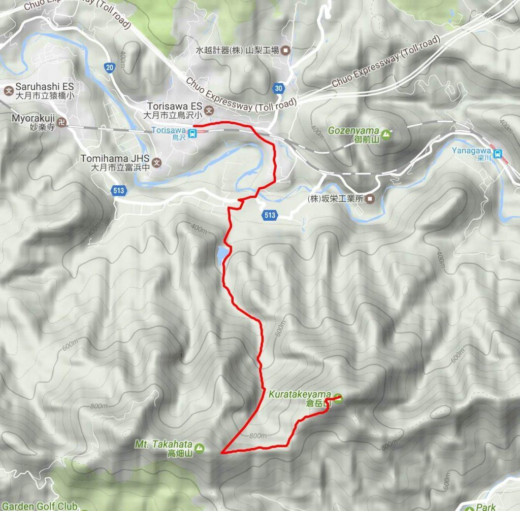 Kuratakeyama map