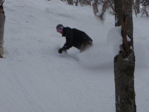 Off-piste skiing in Hokkaido means fresh, deep snow!