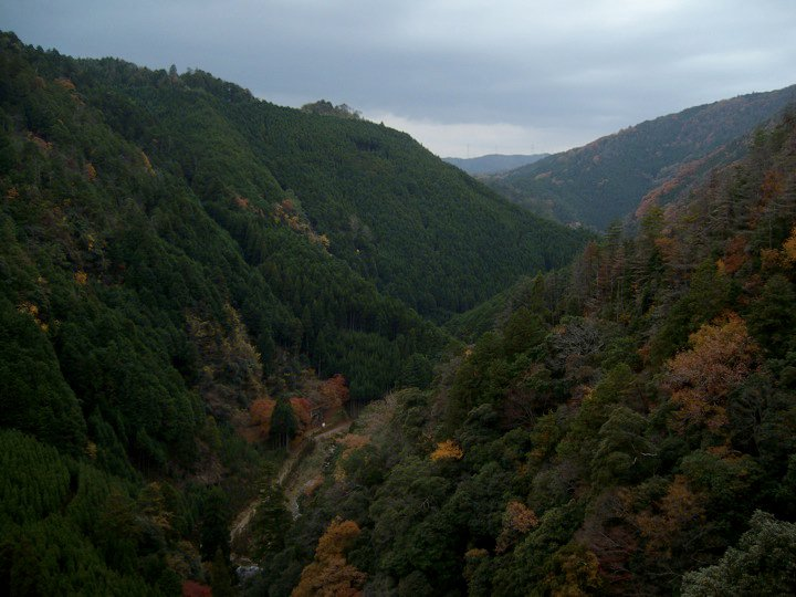 View of the river valley from Jingo-ji