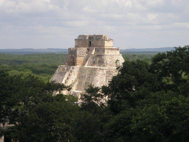The main pyramid at Uxmal, as seen by me