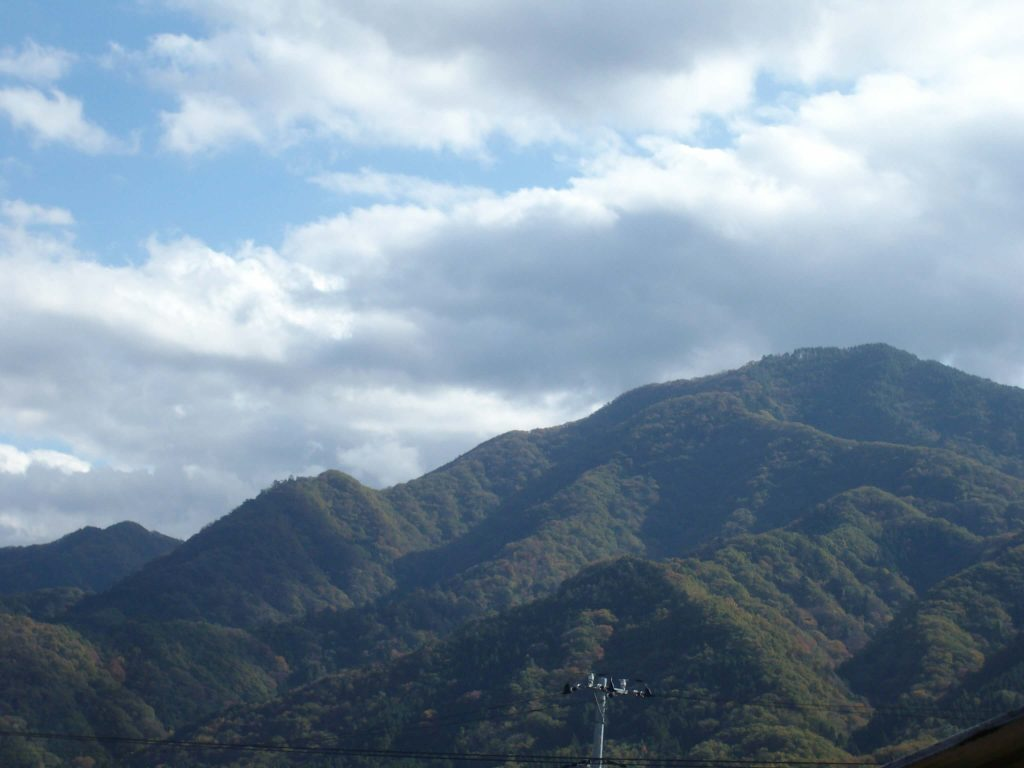 View of Mt Kuratake from the train station