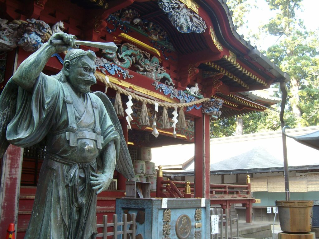 Tengu statue on Mt Takao