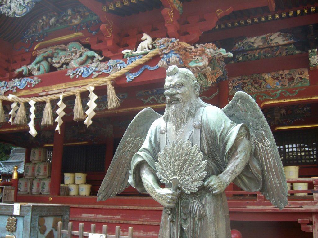 A tengu statue on Mt Takao
