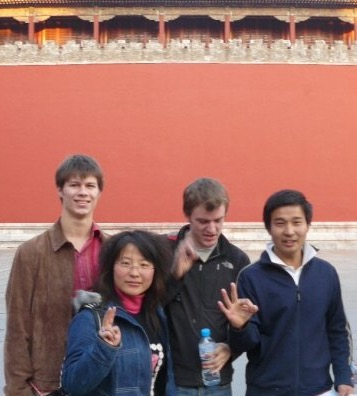 Making new friends(?) in Tiananmen Square