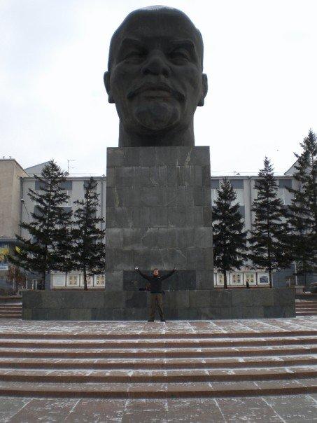 The huge Lenin statue in Ulan Ude