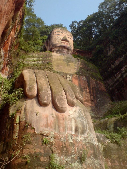 The huge stone Buddha of Leshan