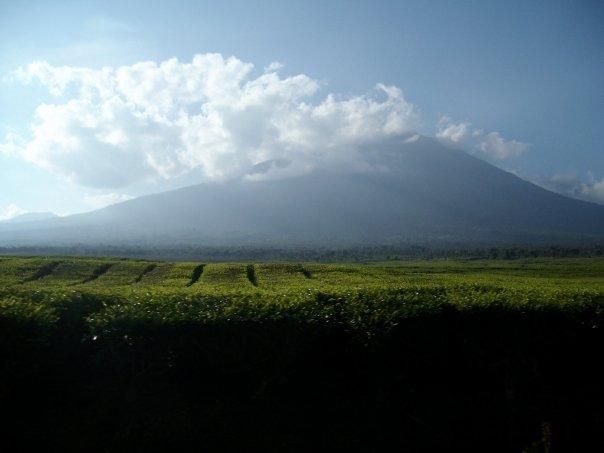 Sumatra to Java overland: view of Gunung Kerinci (Mt Kerinci), Sumatra