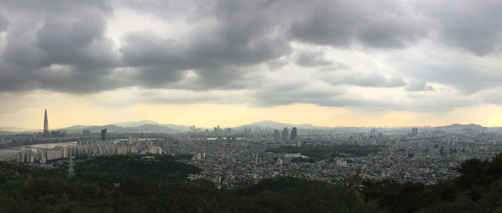 The amazing view from the Achasan viewpoint