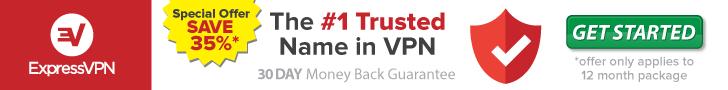 Express VPN advertising banner