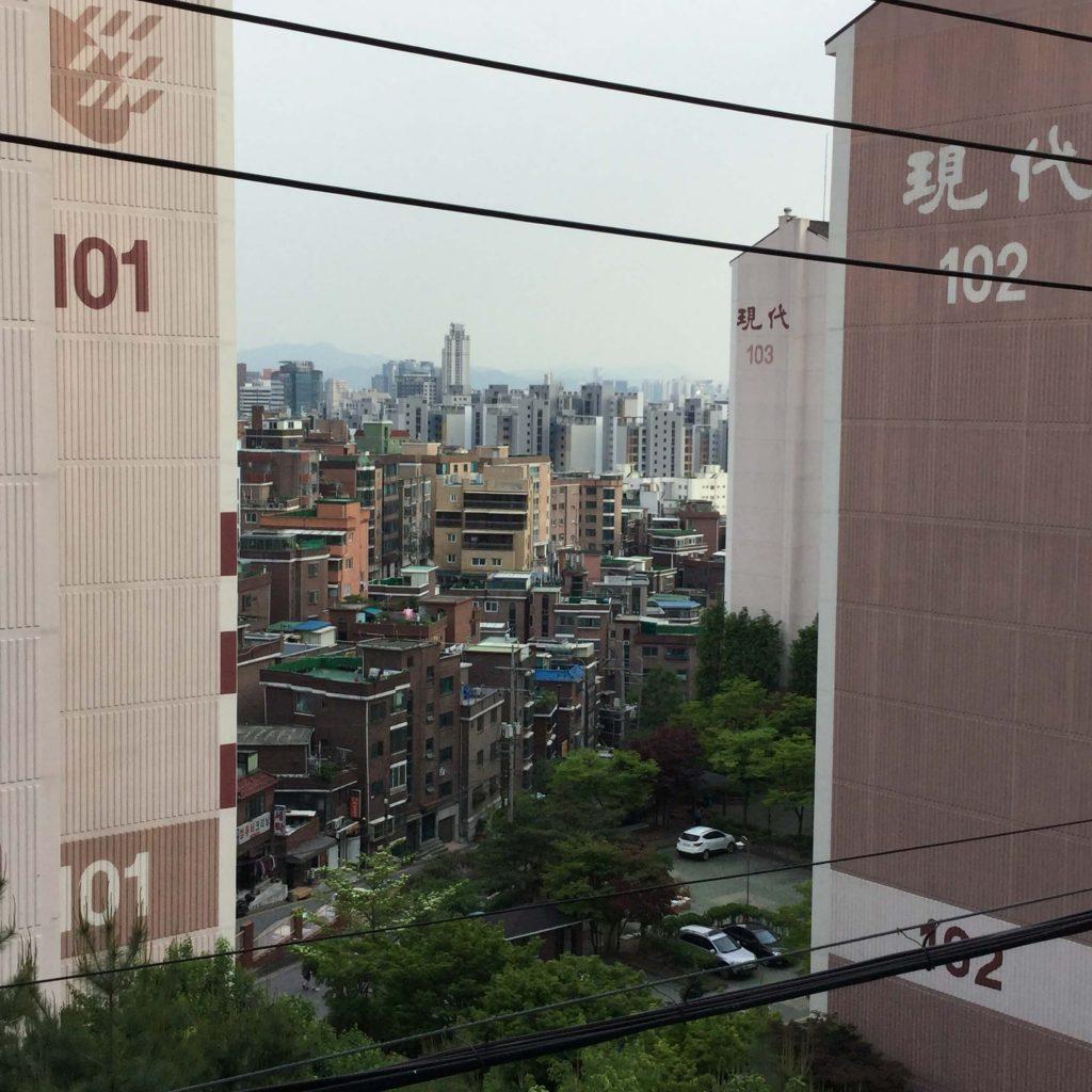 The Hyundai apartments near Inwangsan