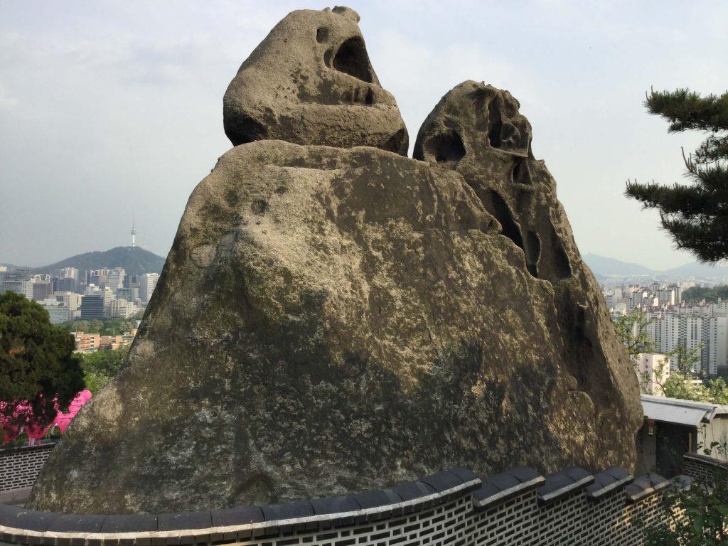 The Seonbawi rock on Inwangsan