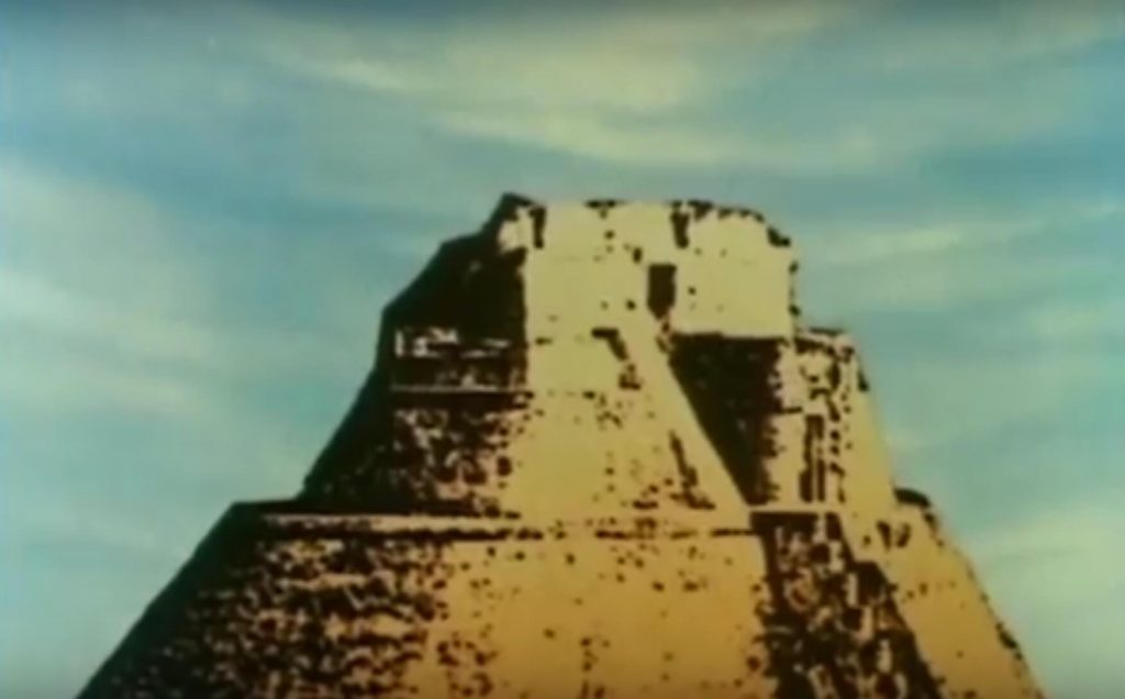 The main pyramid at Uxmal, as seen in the Mysterious Cities of Gold intro