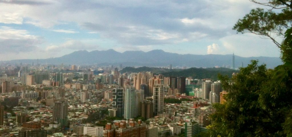 Taipei 101 view from Lion's Head Mountain