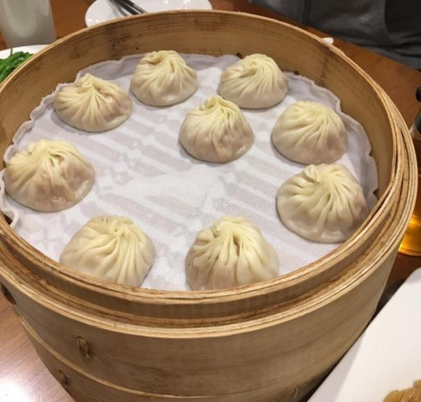 A basket of xiaolongbao at Din Tai Fung, Taipei