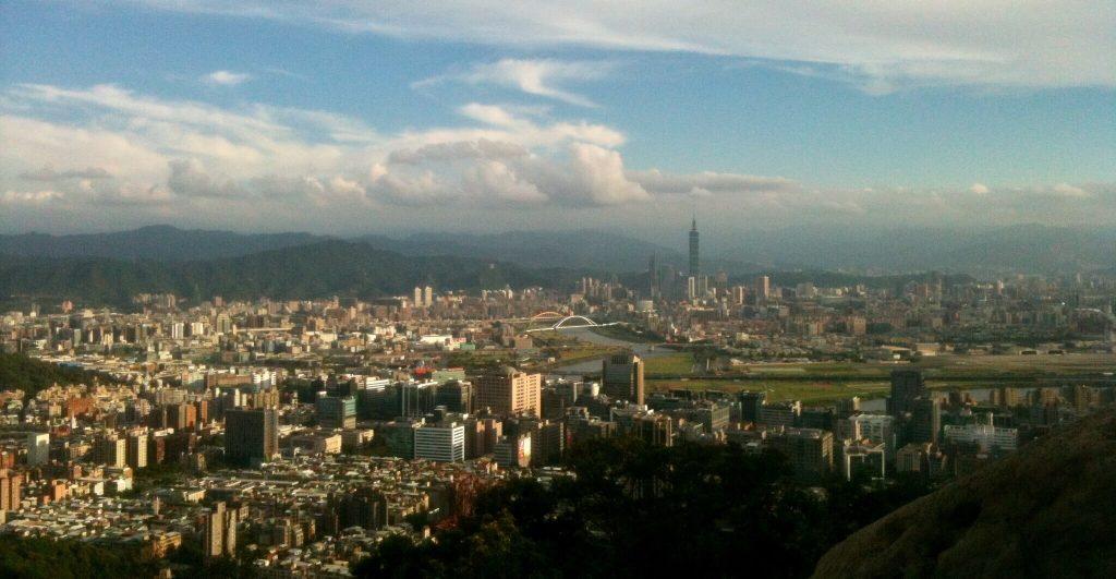 Taipei 101 view from Jinmian Rocks