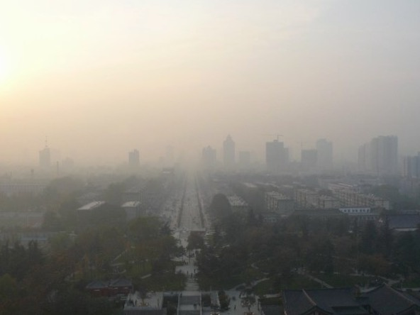 Severe air pollution in Xi'an