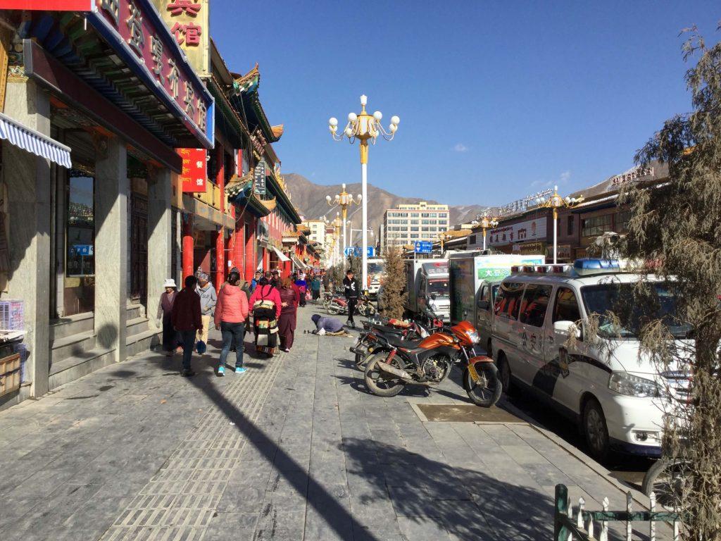 Main street in Labrang (Xiahe), Amdo Tibet