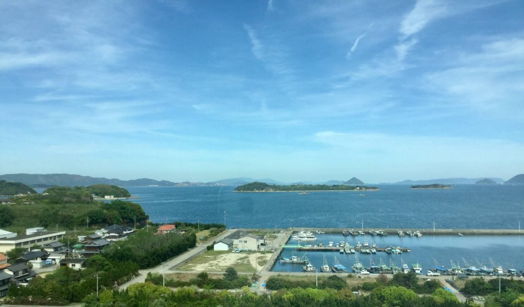 Crossing the Great Seto Bridge from Okayama to Takamatsu