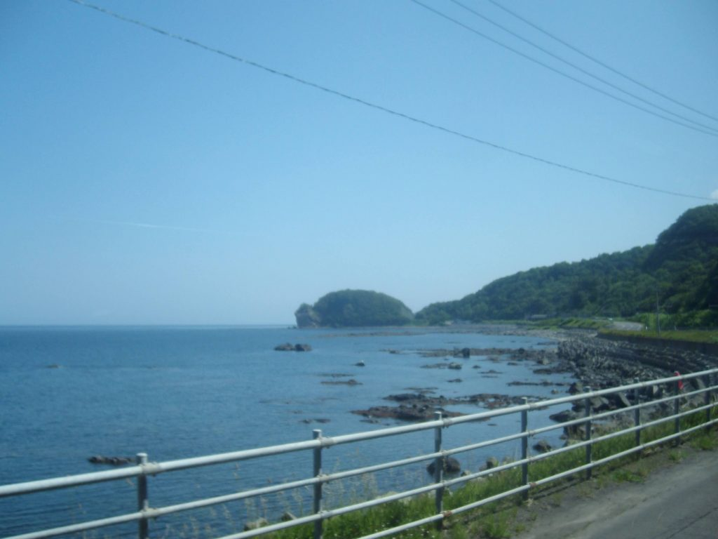 The road to Utoro on the Shiretoko Peninsula