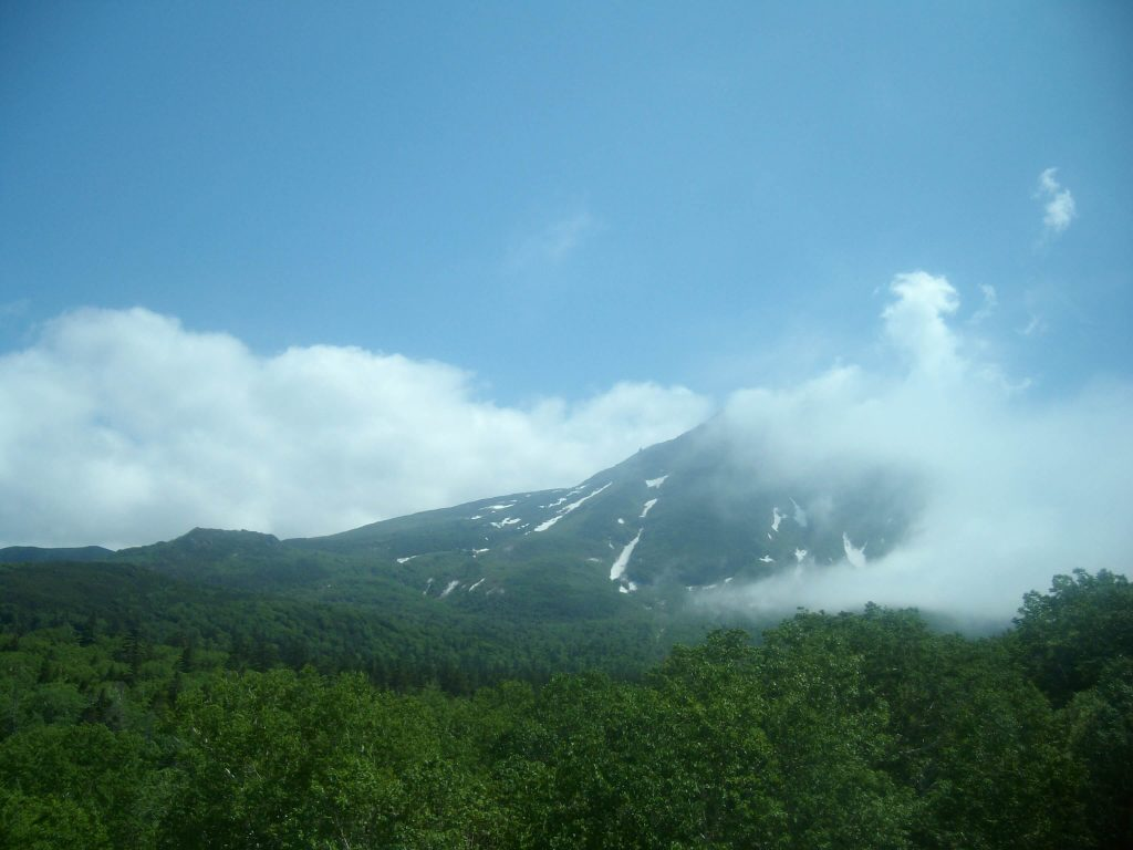 View from the road over the Shiretoko Pass