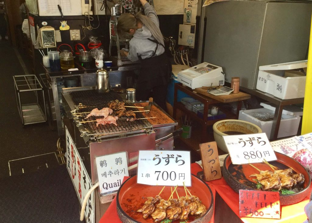 Grilled sparrow shop at Fushimi Inari