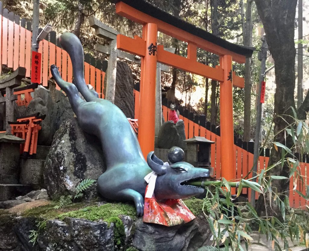 Fox fountain at Fushimi Inari