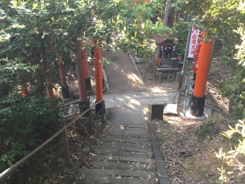 Trail junction at Fushimi Inari