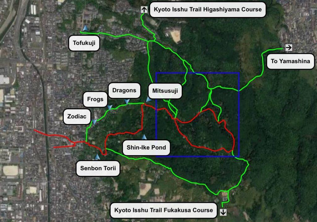 Fushimi Inari Map