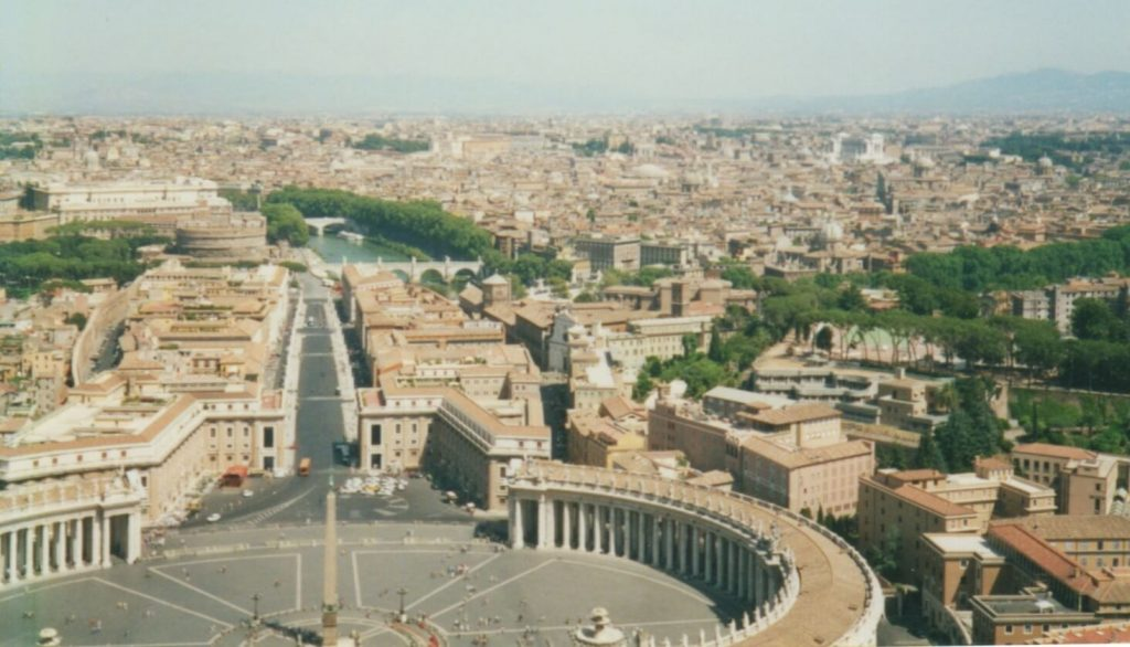 View over Rome from the top of the Vatican