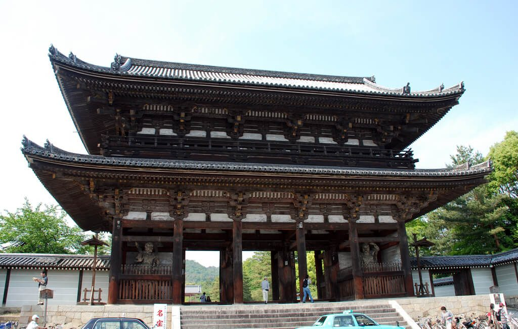 The entrance gate at Ninnaji, Kyoto
