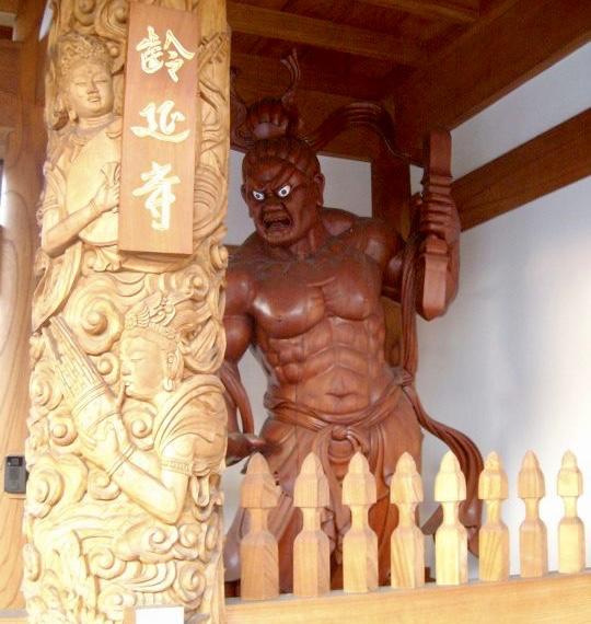 Nio temple guardian, Osaka