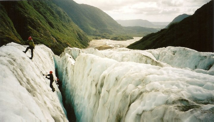 Ice climbing at Franz Josef Glacier