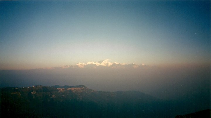 Kanchenjunga at sunrise, from Darjeeling