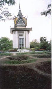 Memorial stupa at the Killing Fields