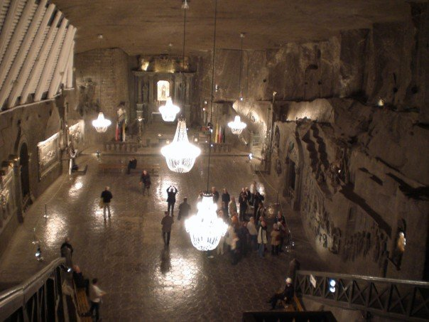 The cathedral in Wieliczka salt mine, near Kraków