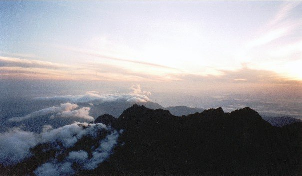 View from the summit of Kinabalu