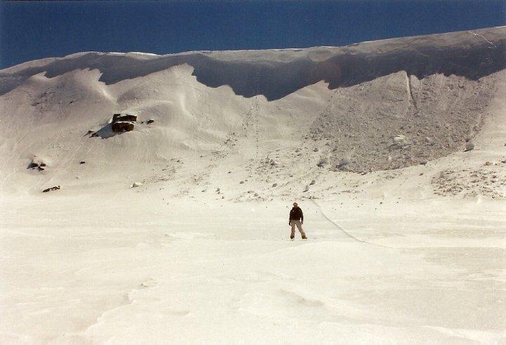 The Mt Kosciuszko ridge shortly after avalanching
