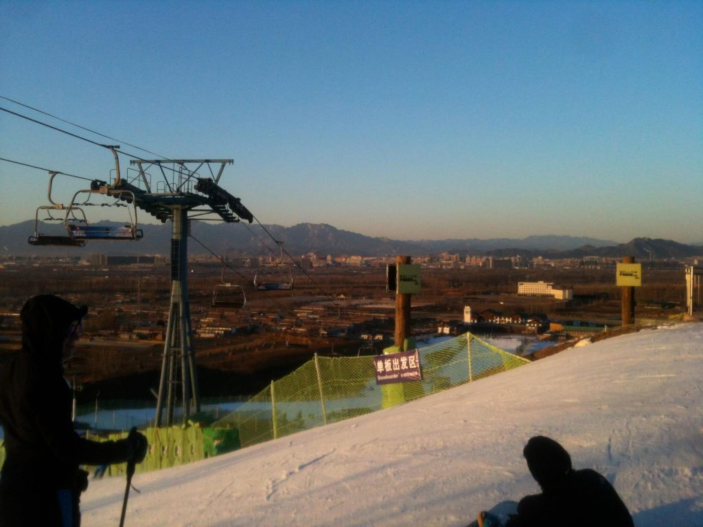 View from the slopes of Nanshan, Beijing