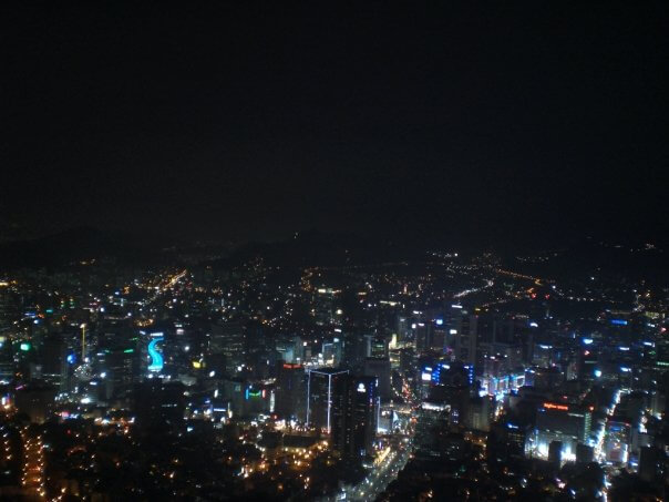 Night view from Seoul Tower